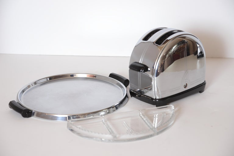 Art Deco Machine Age Sunbeam T-9 Toaster Iconic Patented Complete Breakfast Set For Sale 7