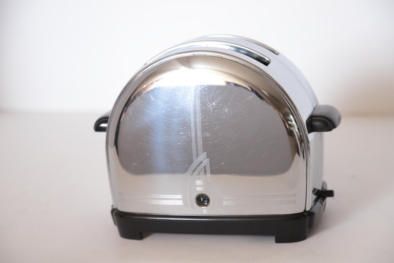Art Deco Machine Age Sunbeam T-9 Toaster Iconic Patented Complete Breakfast Set For Sale 9