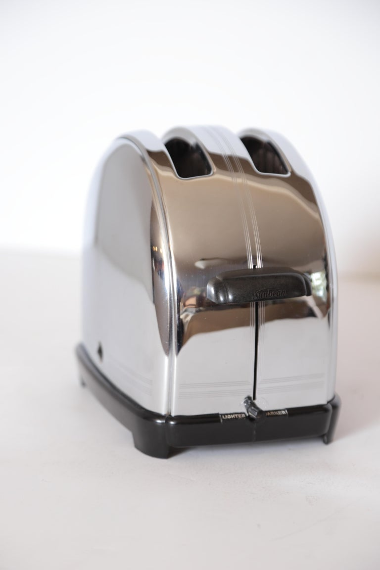 Art Deco Machine Age Sunbeam T-9 Toaster Iconic Patented Complete Breakfast Set For Sale 10