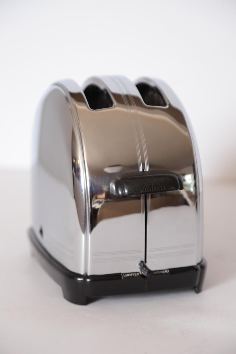 Art Deco Machine Age Sunbeam T-9 Toaster Iconic Patented Complete Breakfast Set For Sale 11