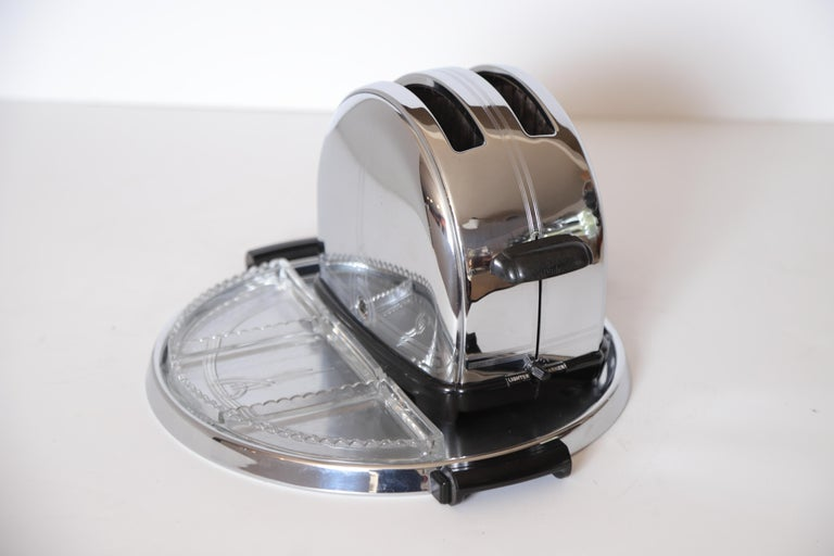 Art Deco Machine Age sunbeam T-9 toaster iconic patented complete breakfast set  Modernist  Streamline Industrial Design  Another of the original Classic American Industrial Modernist re-designs of utilitarian objects for every-man. Allegedly