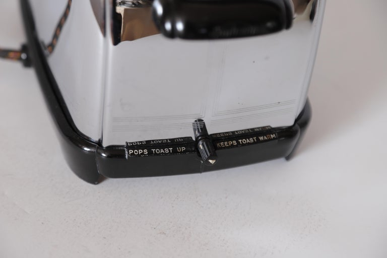 Art Deco Machine Age Sunbeam T-9 Toaster Iconic Patented Complete Breakfast Set For Sale 2