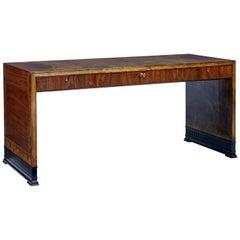 Art Deco Mahogany and Birch Inlaid Low Desk