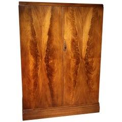 Art Deco Mahogany Compactom Wardrobe for Gentlemen