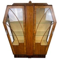 Art Deco Mahogany Display Cabinet