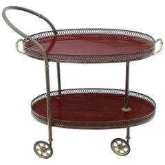Art Deco Mahogany Dumb Waiter Serving Table Drinks Trolley