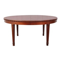 Art Deco Mahogany Extending Dining Table
