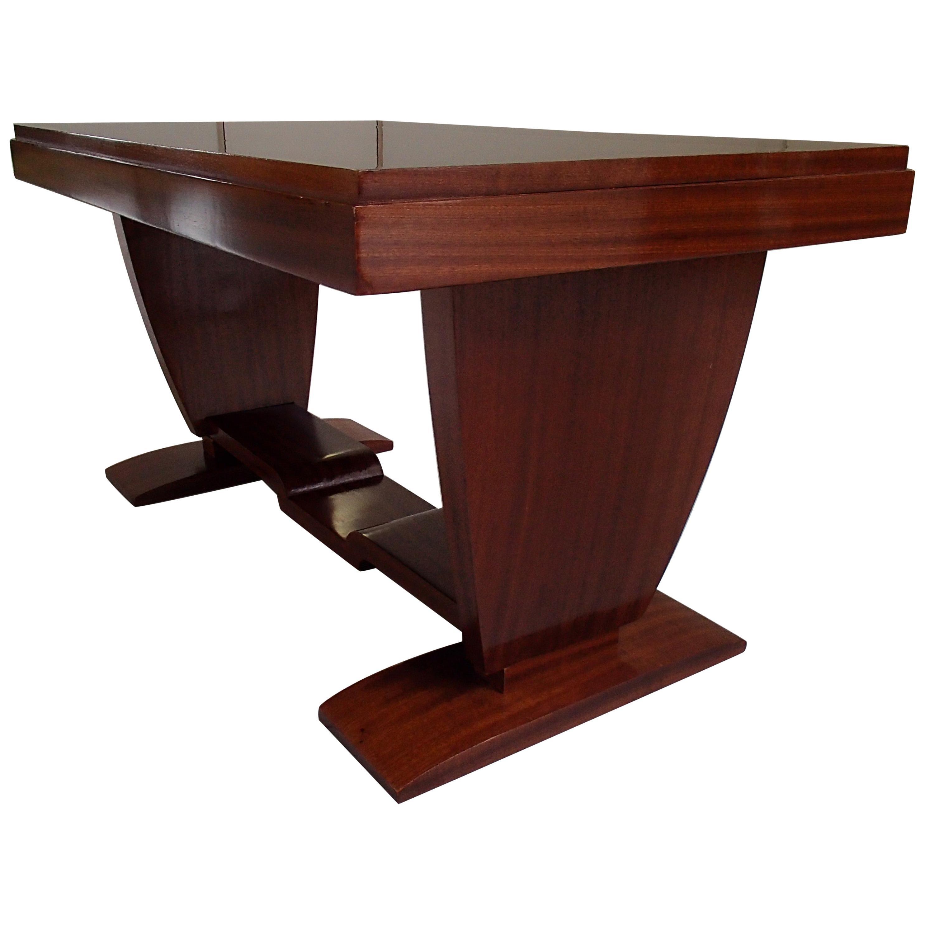 Art Deco Mahogany Low Rectangular Table Restored