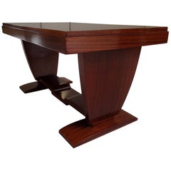 Art Deco Mahogany Low Rectangular Table Restored