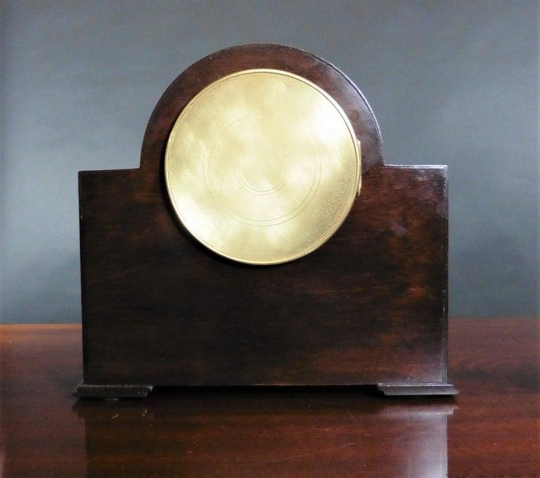 Early 20th Century Art Deco Mahogany Mantel Clock For Sale