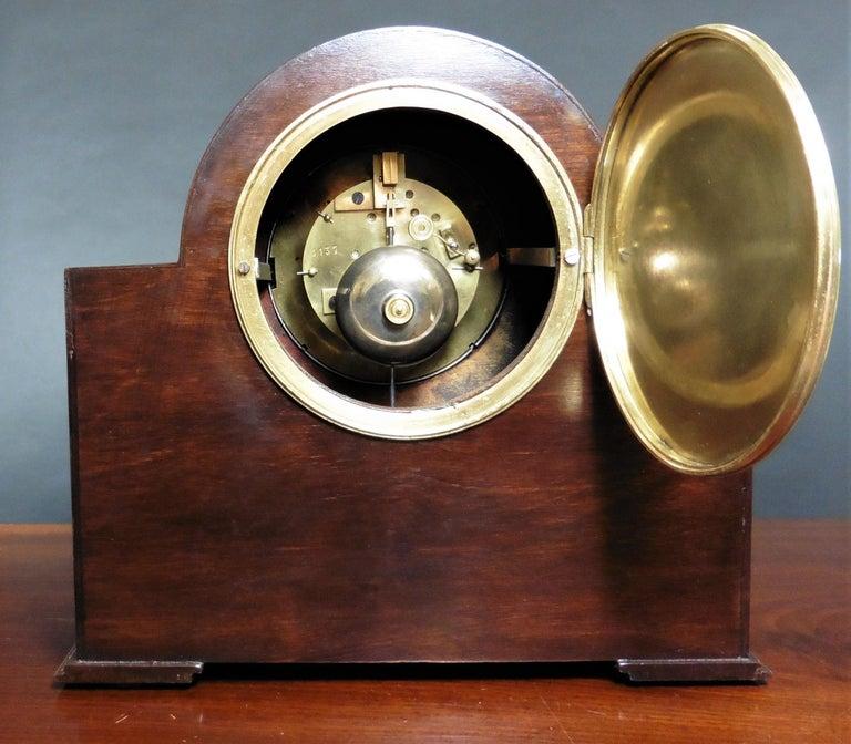 Art Deco Mahogany Mantel Clock For Sale 1