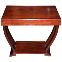 Art Deco Mahogany Wood Table