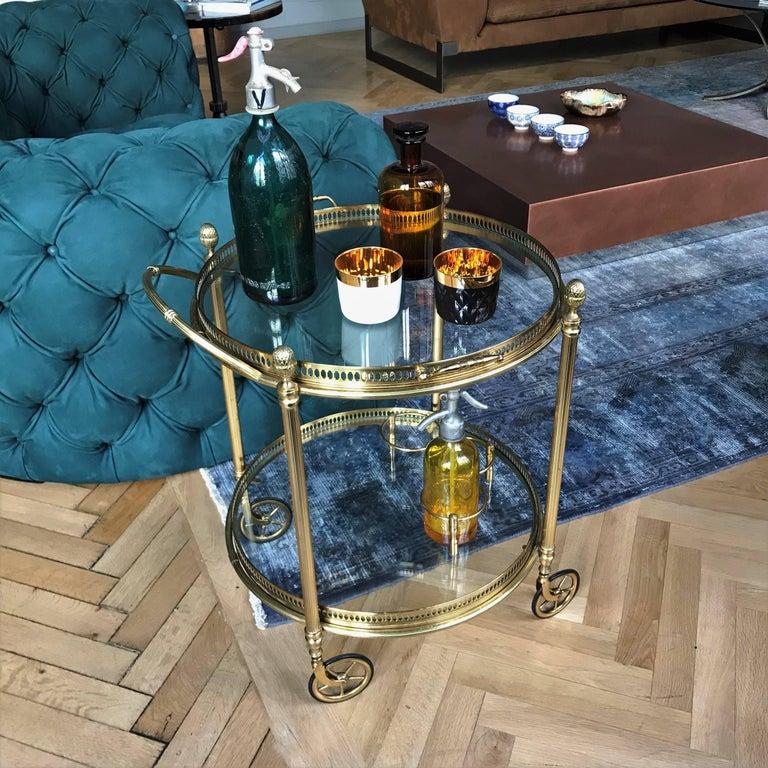 art deco maison bagu s paris brass bar cart 1930s france at 1stdibs. Black Bedroom Furniture Sets. Home Design Ideas