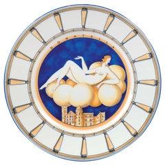 Art Deco Majolica Plate Gio Ponti, Le Mie Donne: 'Donatella'
