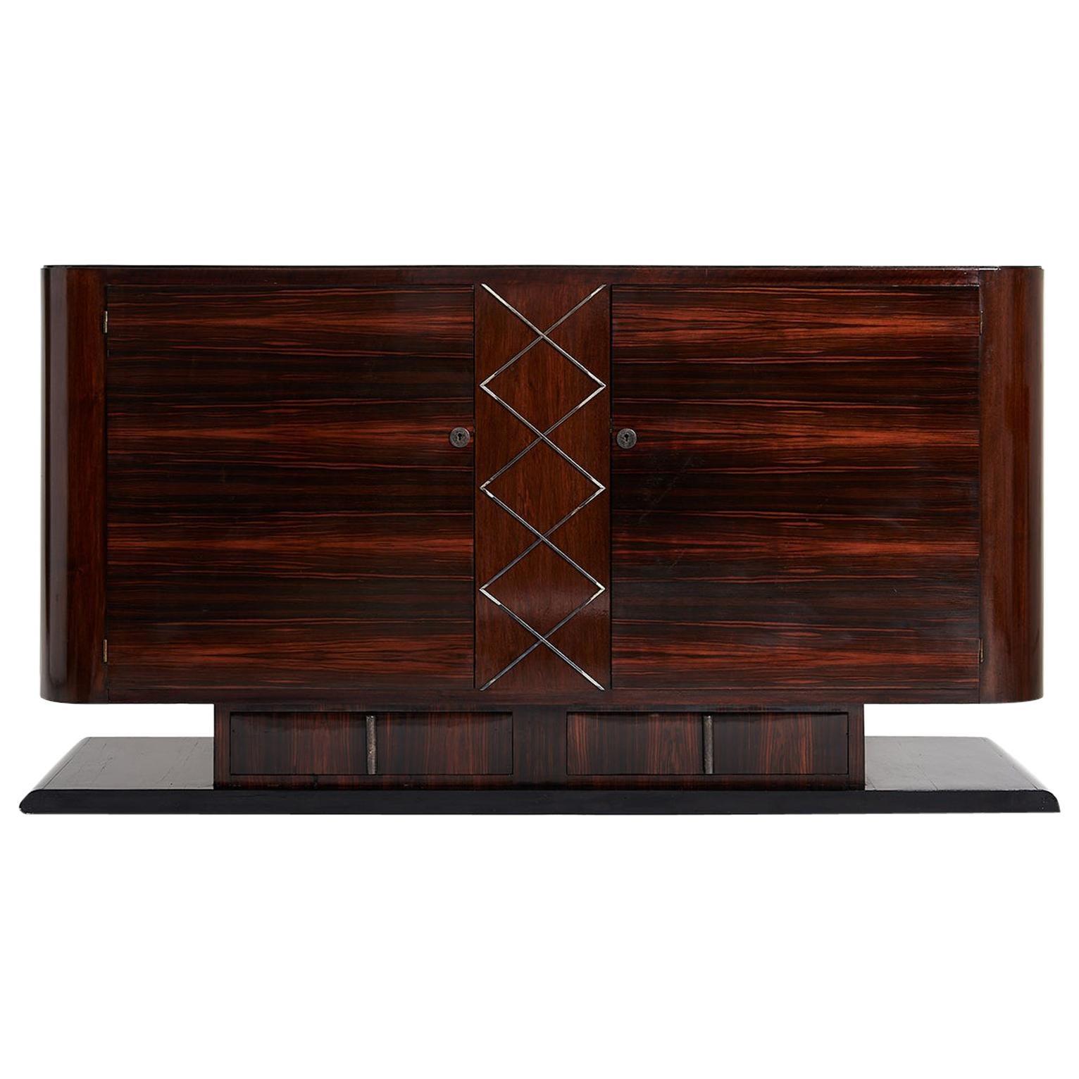 Art Deco Makassar Ebony Sideboard