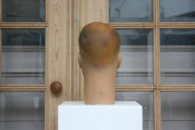 Art Deco Mannequin Head of a Young Man, 1930s For Sale 3
