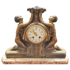 Art Deco Mantel Clock by P Sega