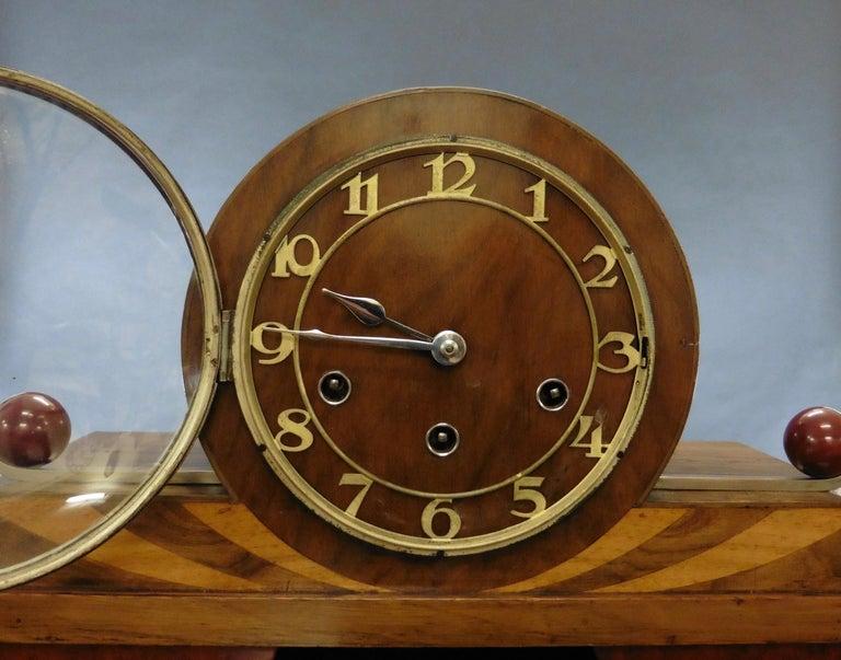 German Art Deco Mantel Clock For Sale