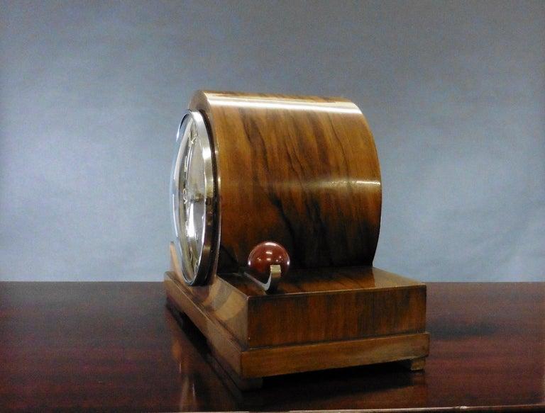 Art Deco Mantel Clock In Good Condition For Sale In Norwich, GB