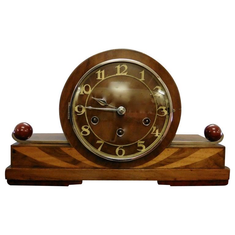 Art Deco Mantel Clock For Sale