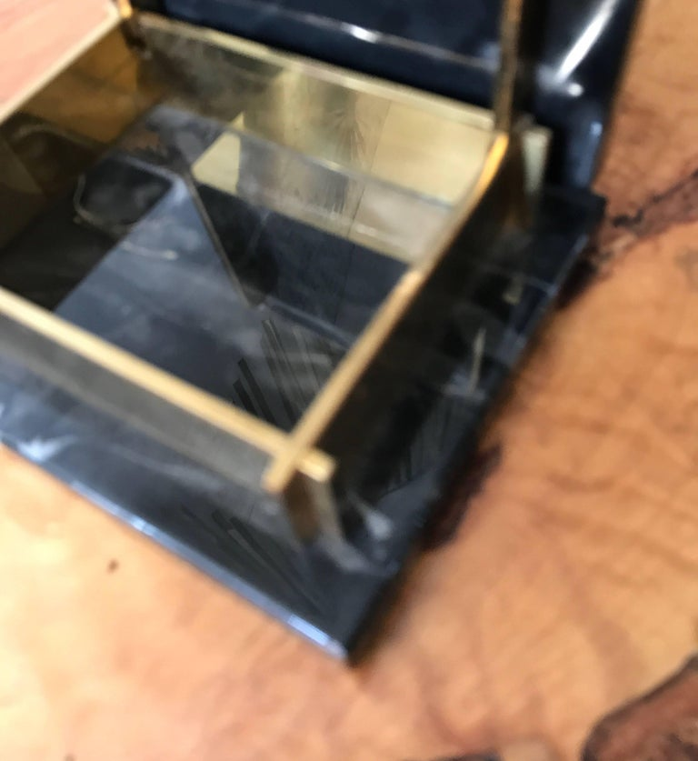 Art Deco Marble and Brass Trinket Box For Sale 2