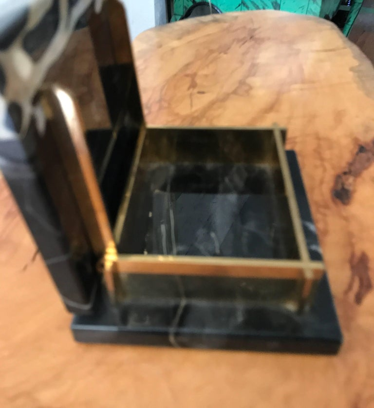 Art Deco Marble and Brass Trinket Box For Sale 4