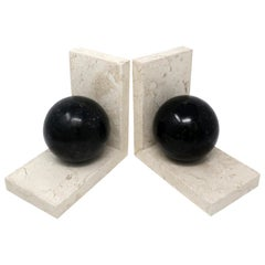 Art Deco Marble Bookends