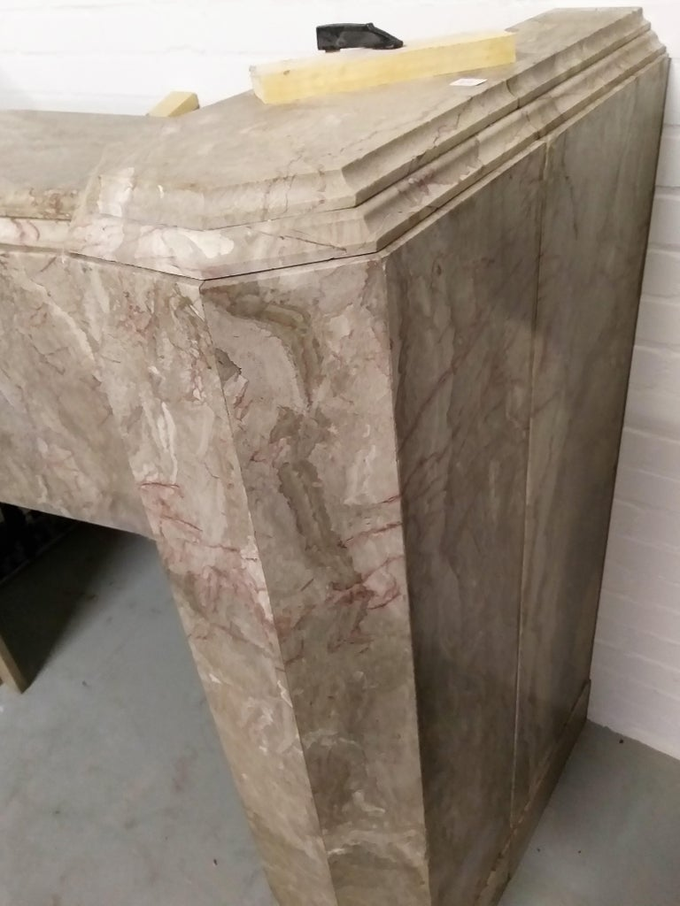 Early 20th Century ART DECO Marble Fireplace Epoque For Sale