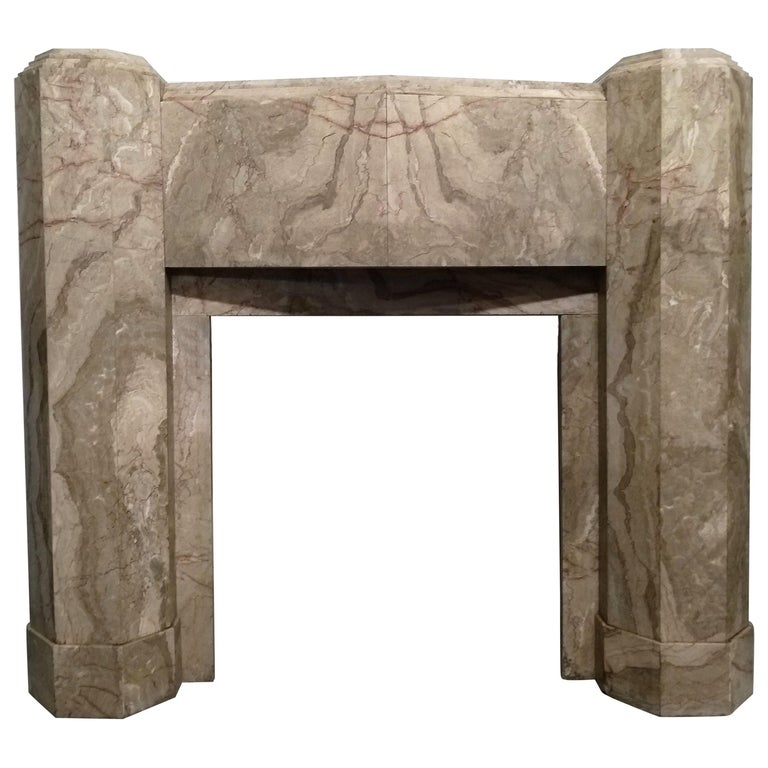 ART DECO Marble Fireplace Epoque For Sale