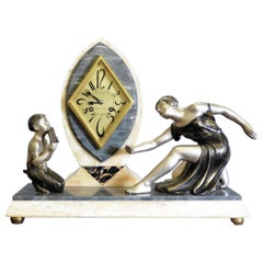 Art Deco Marble Mantel Clock