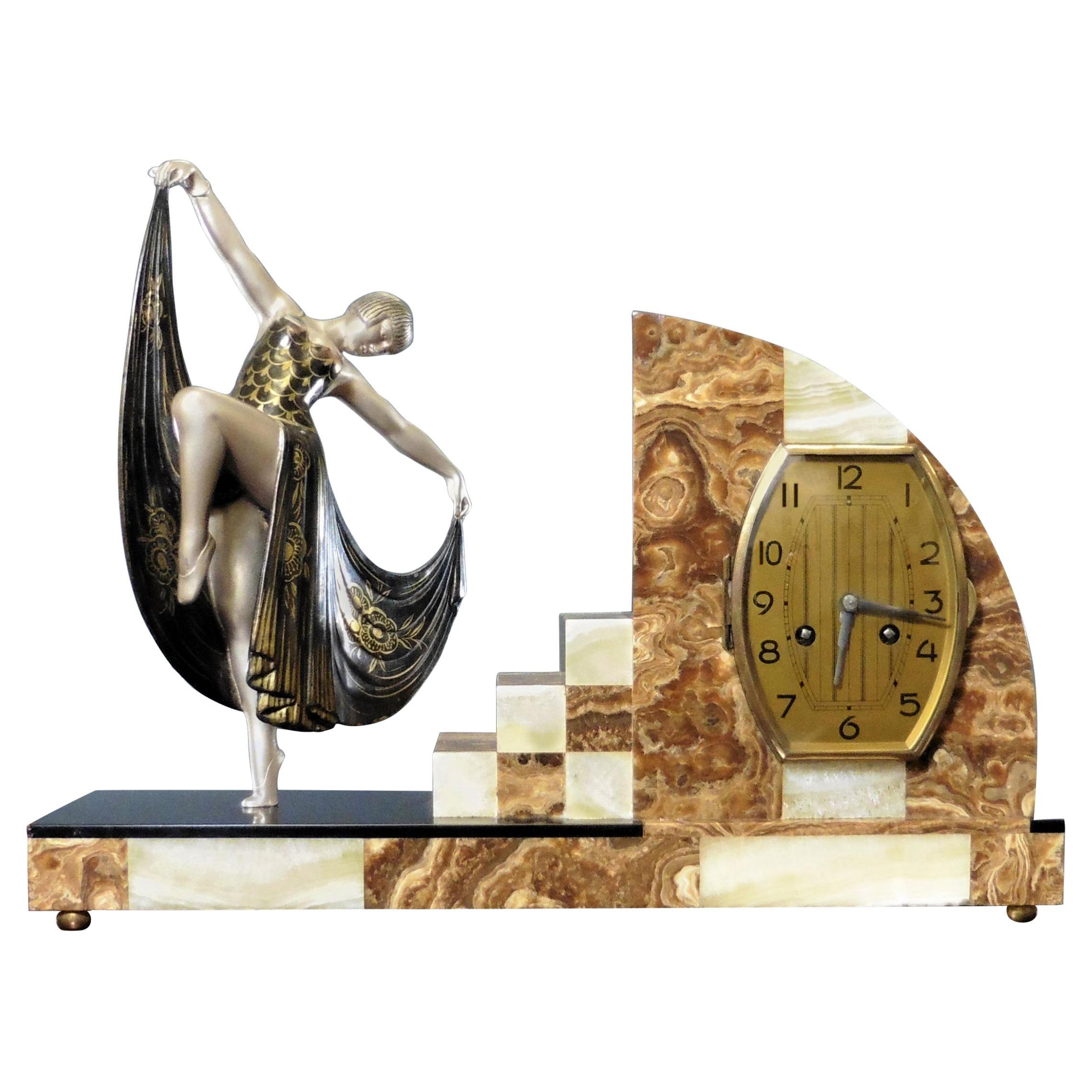 Art Deco Marble Mantel Clock