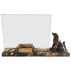 Art Deco Marble Photo Frame with Spaniel Dog