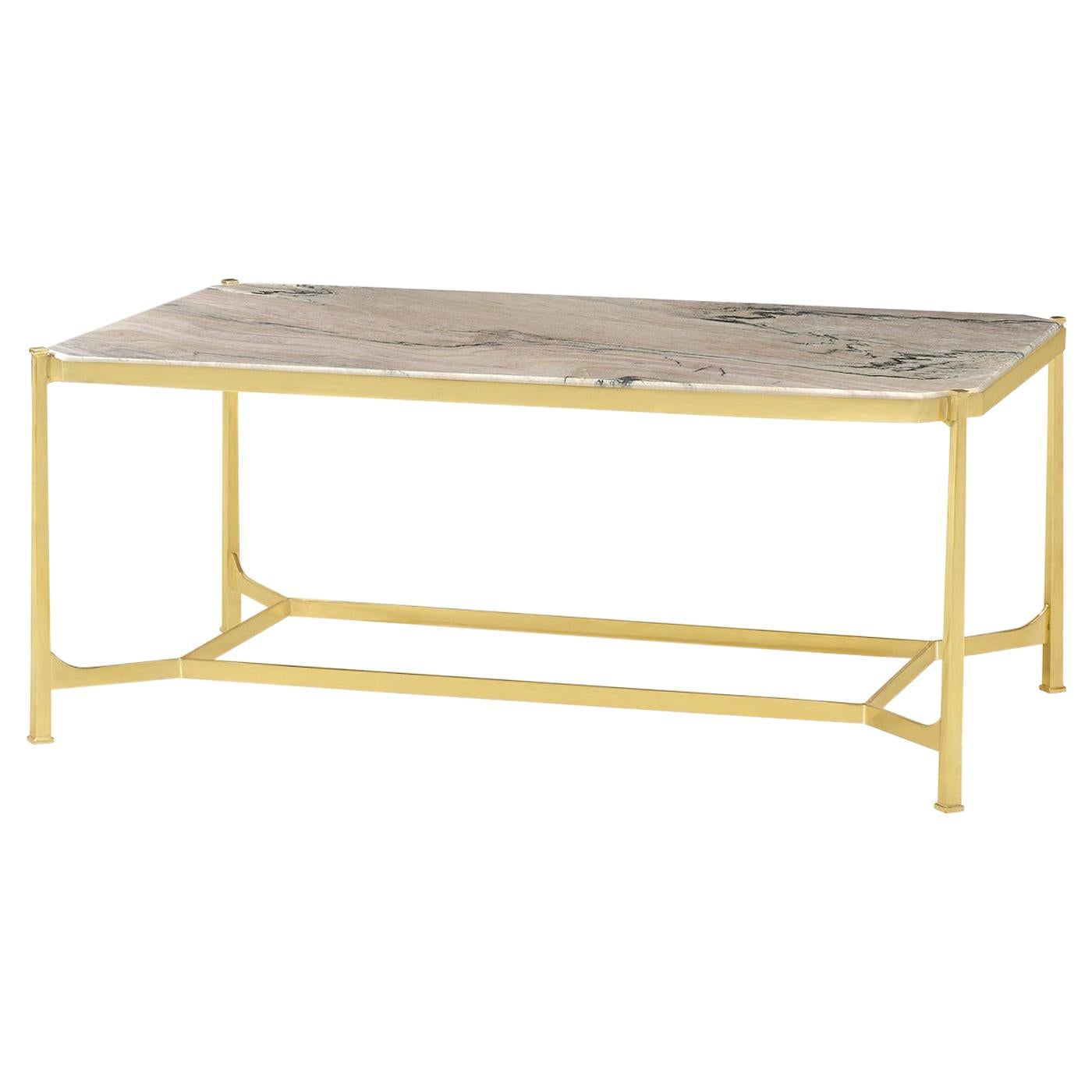Art Deco Marble-Top Coffee Table