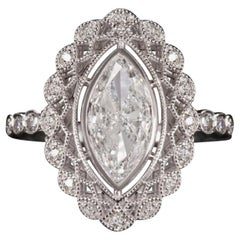 Art Deco Marquise 1 Carat Diamond Ring
