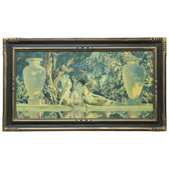 "Art Deco Maxfield Parrish ""Garden of Allah"" Print, circa 1920"