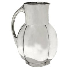 Art Deco Melone Pitcher by C. Fjerdingstad, Gallia for Christofle