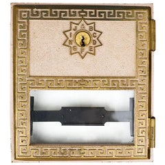 Art Deco Metal Post Office Box Covers with Lock