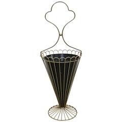 Art Deco Metal Umbrella Stand Floor Sculpture