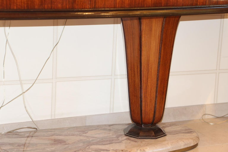 Mid-Century Modern Art Deco Midcentury Italian Sideboard with Inlay by Vittorio Dassi, Credenza For Sale