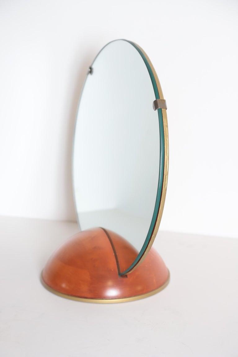 Art Deco midcentury Romweber valet mirror for chest, desk or vanity Mid-Century Modern  Very good original condition.  Nice vintage Gentleman's Valet mirror, Ladies Vanity mirror. From a vintage Romweber bedroom set, so presumed to be a Romweber