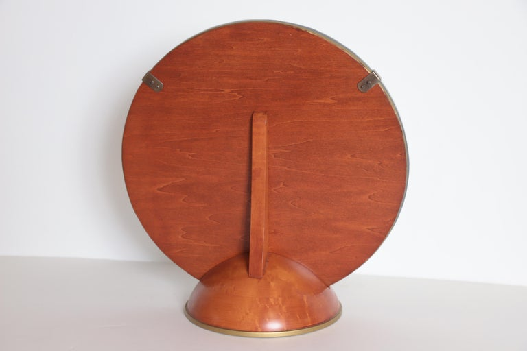 Art Deco Mid-Century Modern Romweber Valet Mirror for Chest, Desk or Vanity In Good Condition For Sale In Dallas, TX