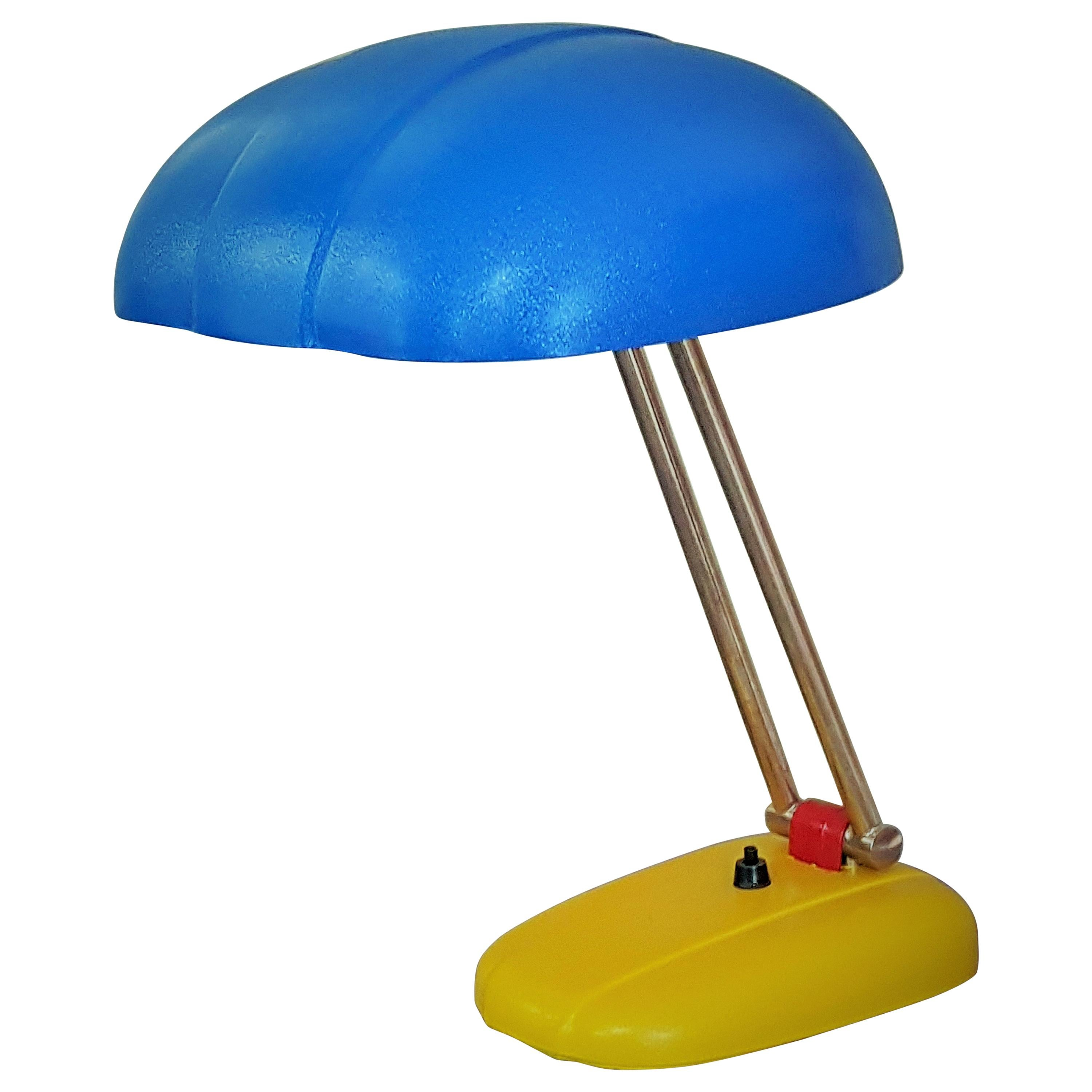 Art Deco Midcentury Swiss Table Lamp by S. Giedion for BAG Turgi, 1930s