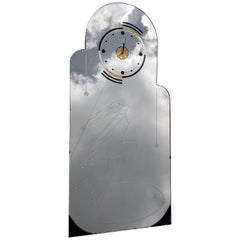 Art Deco Mirror Clock Spirit of Ecstacy