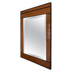 Art Deco Style Fruitwood Mirror