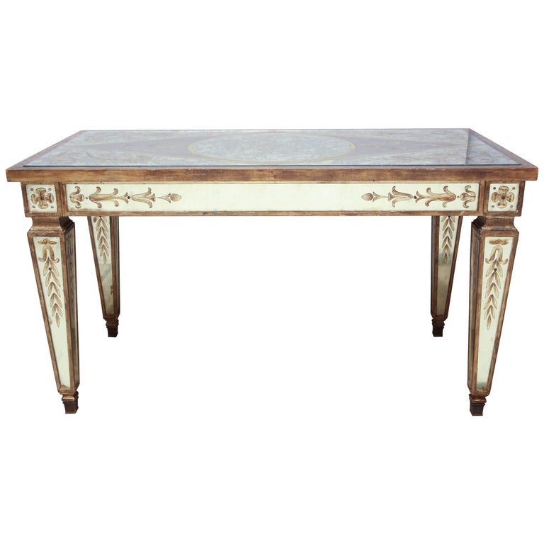 Mirrored Coffee Table Sale: Art Deco Mirrored Cocktail Table For Sale At 1stdibs