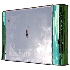 Art Deco Mirrored Factory Clock, Rostron Selby