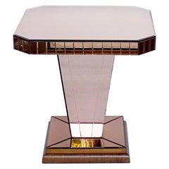 Art Deco Mirrored Side Table English, Circa 1935
