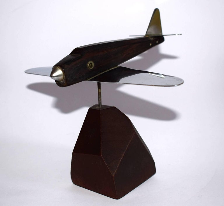 Art Deco Model Airplane Paper Weight In Good Condition For Sale In Devon, England