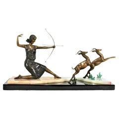 Art Deco /Modern Bronze Sculpture Dianna