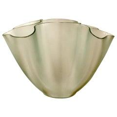 Art Deco Modern Fontana Arte Glass Art Bowl Table Sculpture Pietro Chiesa, Italy